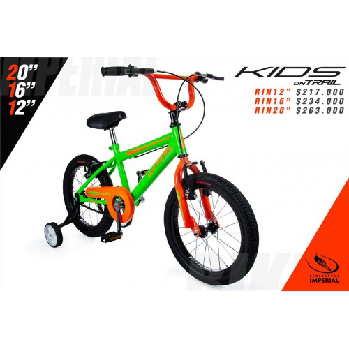 BICICLETA KIDS ON TRAIL RIN 12""