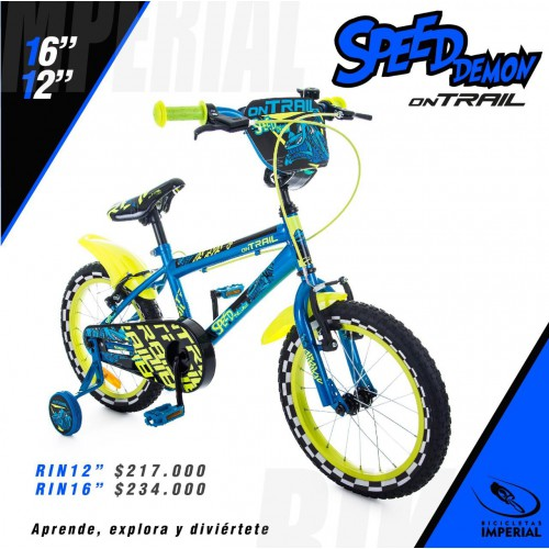 BICICLETA SPEED DEMON ON TRAIL RIN 16""