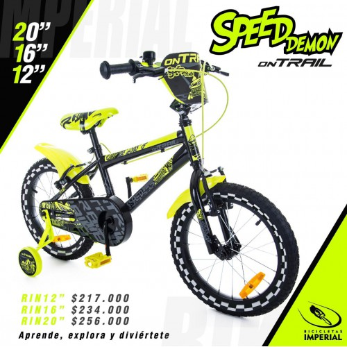 BICICLETA SPEED DEMON ON TRAIL RIN 12""
